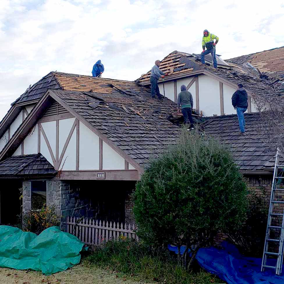 replace roof damages